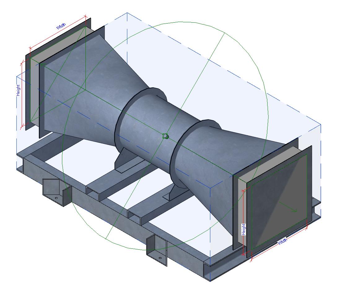 Adjustable Pitch Axial Flow Fan #2D5A9E